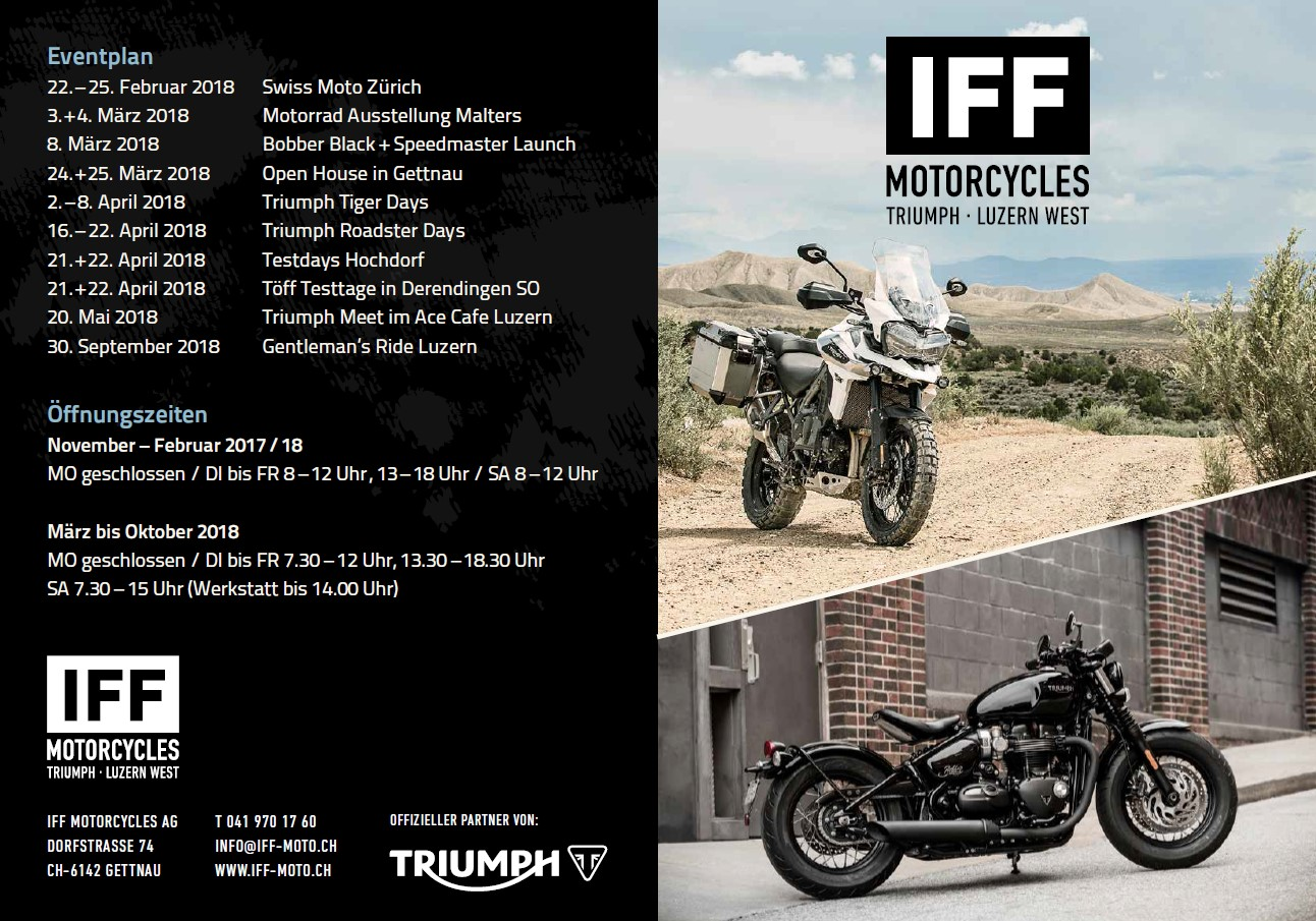 Iff Motorcycles Eventplan